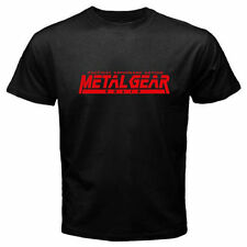 New Metal Gear Solid Famous Video Game Logo Men's Black T-Shirt Size S to 2XL