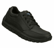 76971 BLACK SKECHERS For Work  MAGMA-SOOTHER NEW Men's Memory Foam Non Slip Sole