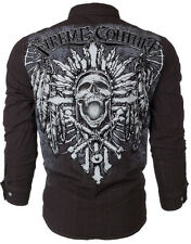 Xtreme Couture AFFLICTION Mens BUTTON DOWN Shirt SKULL CROSS Roar UFC M-XXL $78