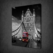 LONDON TOWER BRIDGE RED BUS CANVAS PRINT PICTURE READY TO HANG