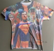 New DC Comics Superman Batman Superheroes Sublimated Graphic Tee T-Shirt Top S-L