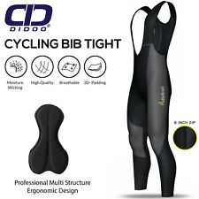 Mens cycling bib tights winter thermal padded mtb road bike leggings baselayer