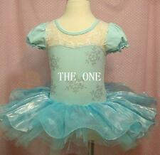 Frozen Party Dress Elsa Tutu Dance Blue  Costume Party cosplay UK STOCK girls