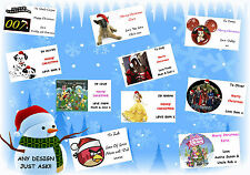 21 or 16 PERSONALISED christmas gift labels stickers sticky tags xmas present