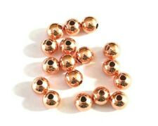 Premium Rose Gold Brass Round Spacer Beads ♥ Various Sizes ♥ lady-muck1