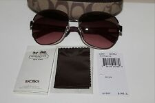 NWT Coach SKYLER Sunglasses L047 w/Coach Cloth & Case Below $148 Retail SOLD OUT