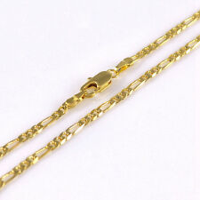 2mm 18K Yellow Gold Plated Italy Figaro Link Neck Chain Necklace N003