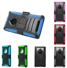 For Nokia Lumia 830 Robotic Holster Belt Clip Combo Stand Cover Case Accessory