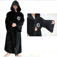 Hot Black Star Wars JEDI BATH ROBE / DRESSING GOWN IN BLACK Bathrobe