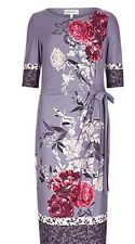 MARKS AND SPENCER PER UNA ORIENTAL ROSE PRINT with BORDER SHIFT DRESS  8 to 24