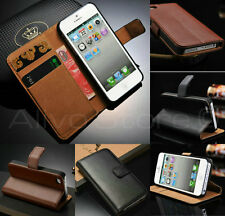 iPhone 5C Genuine Real leather Wallet Stand Case Cover Ultra Slim & Very light