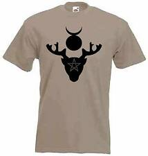 HORNED GOD T-SHIRT - Pagan Wicca Witch Druid Wiccan - Choice Of 9 Colours
