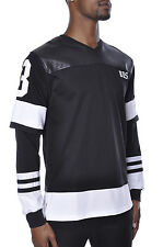 Hudson Authentic Weekend Trofer Breathable Knit Football Jersey Layered PU Shirt
