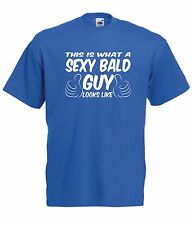 SEXY BALD GUY fathers grandads christmas birthday gift ideas Boys girls T SHIRT