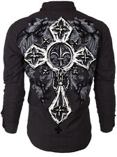 Xtreme Couture AFFLICTION Mens BUTTON DOWN Shirt CROSS TRIBE Roar UFC M-XXL $78