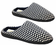 Mens New Slip On Coolers Premier Textile Bedroom Mule Slippers Shoes Size 7-12