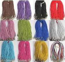 10Pcs Leather Braid Rope Hemp Cord Lobster Clasp Chain DIY Necklace Bracelet
