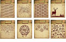 """Crafter's Companion Embossing Folders 6""""x6"""" ~ Vintage Christmas Collection ~"""
