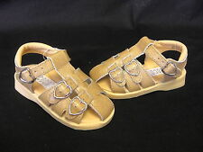 Jumbo Coco girls camel or white heart buckle design strappy leather sandals
