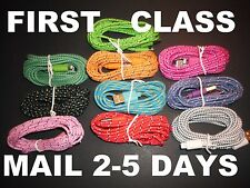 10ft Braided Durable 8 Pin USB Data Sync Charger Cord Cable lot iPhone 5 5s 5c 6