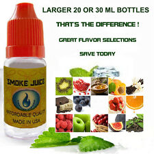 E Liquid E Juice LARGE 20/30 ml Bottle CHOICE FLAVORS for Vaporizers Made in USA