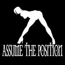 Assume The Position T-shirt -All Sizes *Adult, Kinky, S&M, Sexy*