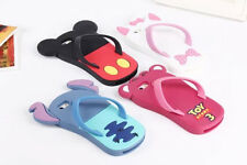 New arrival Cartoon Flip Flops Silicon Material Cover Case For iphone 5 5S
