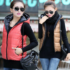 New Winter Lady Cotton Down Vest Waistcoat Vest And Long Sections Hooded