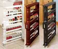 Rolling Slim Can Amp Spice Rack Space Saver Storage