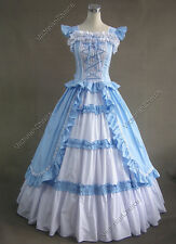 Victorian Gothic Princess Dress Ball Gown Reenactment Theather Wear Costume 085