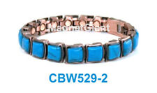 Turquoise Gemstone - Women Copper link high power magnetic bracelet CBW529