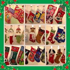 Disney Stocking Princess Optimus Star War Minnie Santa Reindeer Snowman Animal