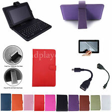 "Colorful Keyboard Leather Case+Free Film For 7"" Hipstreet W7 Windows 8.1 Tablet"
