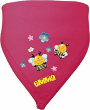 Neck Scarf Tooth Cloth Triangle Baby Child With Name & Wish Motif