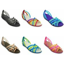 Crocs Huarache Flat Sandals - Black Blue Pink Brown - New and authentic