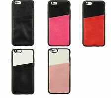 Apple iPhone 6 TPU IMD Dual Credit Card Insert Leather Case | Various Colors