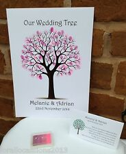 A3 WEDDING Fingerprint Tree, wedding guest book, wedding favori, regali di nozze