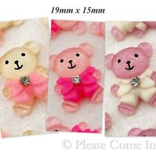 Resin Teddy in Coat Cabochon Mixed for Scrapbooking/ DIY Hair Clip