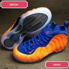 "Nike Air Foamposite One ""Knicks"" Spike Lee Total Crimson Game Royal Black sz4-13"