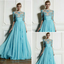 Luxury Chiffon Bridesmaid Evening Formal Dresses Party Ball Gown Prom Long Dress