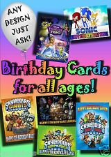 PERSONALISED birthday card Large A5 size 100's designs incl disney greetings
