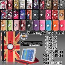 Rotating Stand Leather Case Cover For Samsung Galaxy Tab 2 3 4/Tab S/Note/TabPro