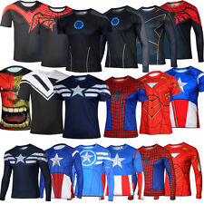 Men Casual Marvel Comics Superhero T-Shirts Costume Cycling Jersey Tee Shirts