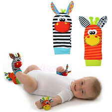 1Pairs Lovely Donkey Baby Infant Kids Foot Sock Rattles Toys Soft