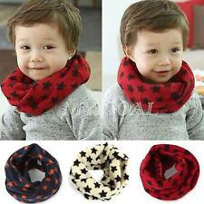 Boys Girls Winter Warmer Neck Wraps Baby Kids Star Toddlers Knitted Scarf Shawl