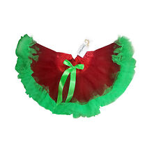 Childrens Baby Girls Christmas Tutu Petticoat Net Layers Green Frilly Elf Elves