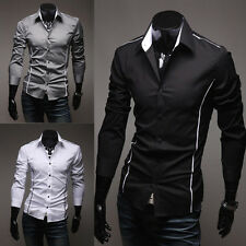 cheap sales Men Clothes Casual Shirts Long Sleeve Fit Shirt Outwear Tops 3 Color