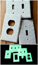 Glow in the Dark Iridescent Glitter Light Switch, GFI, Double, & Outlet Cover