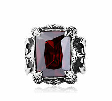 New Nordic Warriors Ring for Men's Fashion Crystal Ring of Honor Silver