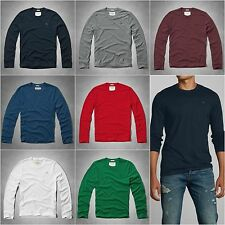 New Abercrombie & Fitch Men's Long Sleeve Tee Moose Creek Size S, M, L, XL, XXL